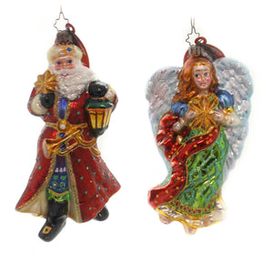 Christopher Radko THE LIGHT BRIGADE Glass Ornament Santa Angel Snowman 1012222