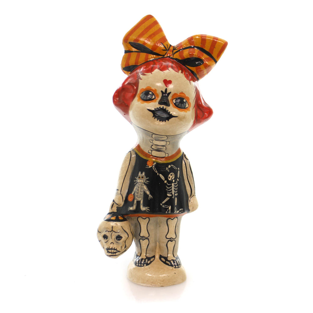 Vaillancourt Skeleton Girl Halloween Figurine