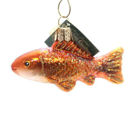 Old World Christmas Goldfish Glass Ornament 28974