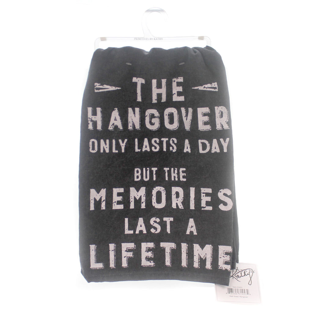 Home & Garden Hangover Dish Towel Decorative Towel