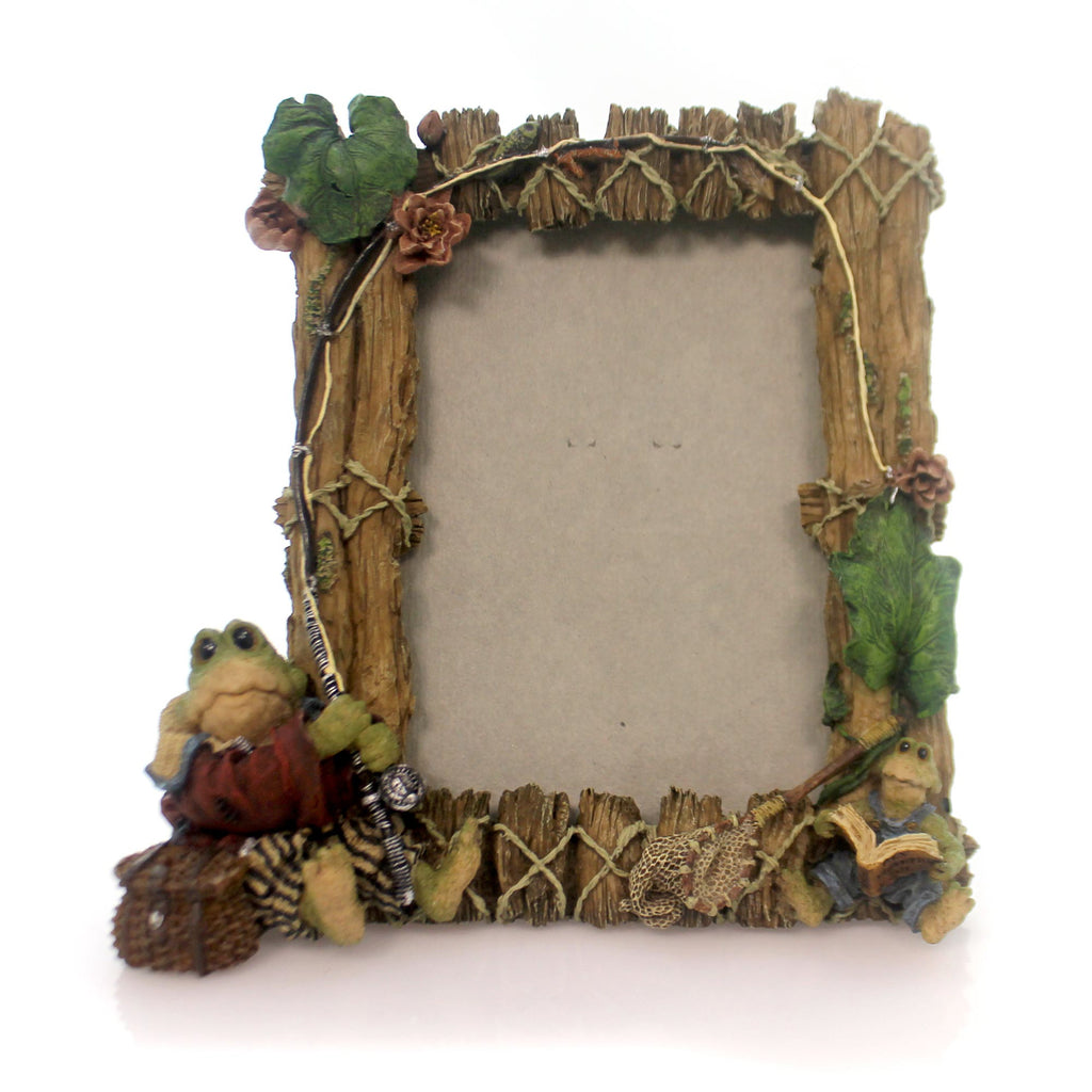 Boyds Bears Resin Frogmorton And Tad Fly Fishing Frame