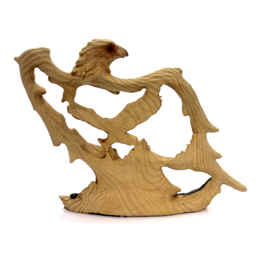 Animal Eagle 6.5 Inch Woodlike Carving Figurine