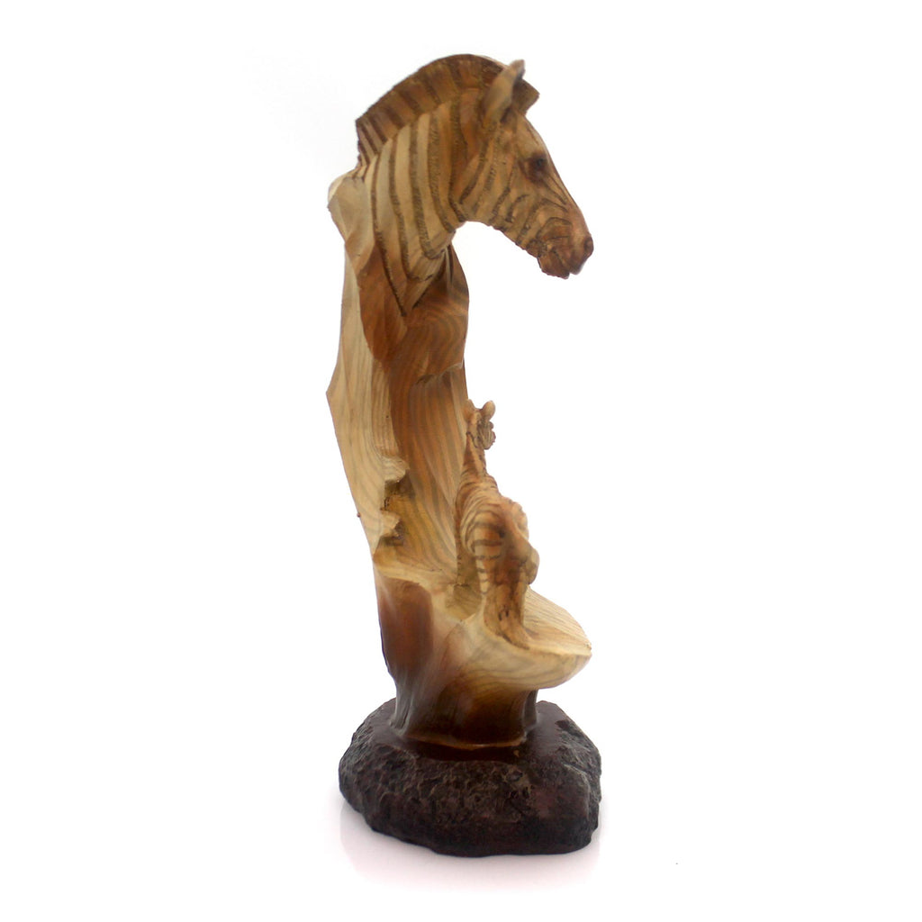 Animal Zebra Bust Scene Figurine