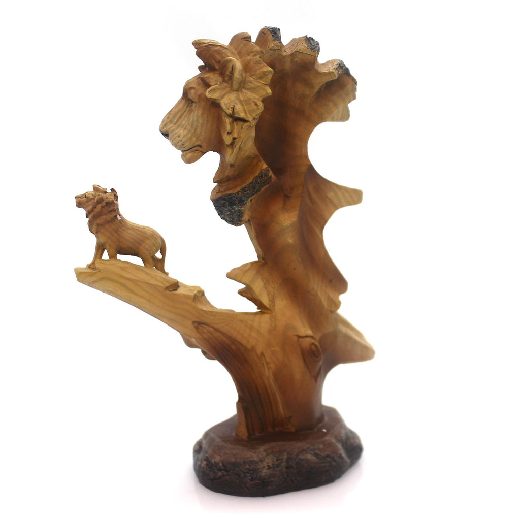 Animal Lion Bust Scene Figurine
