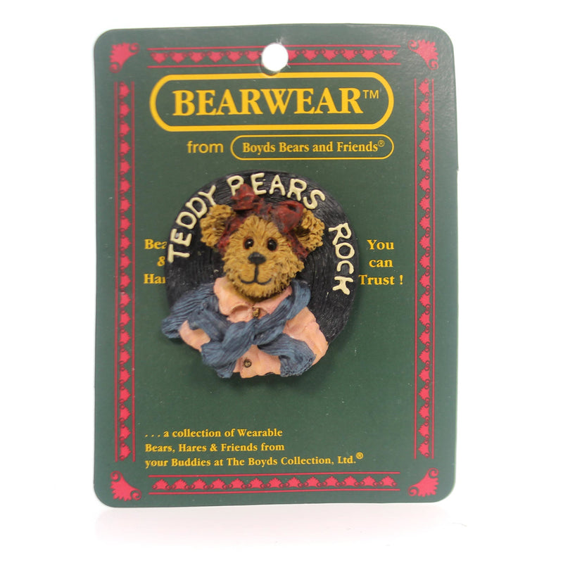 Boyds Bears Resin Bailey Swing Time Pin
