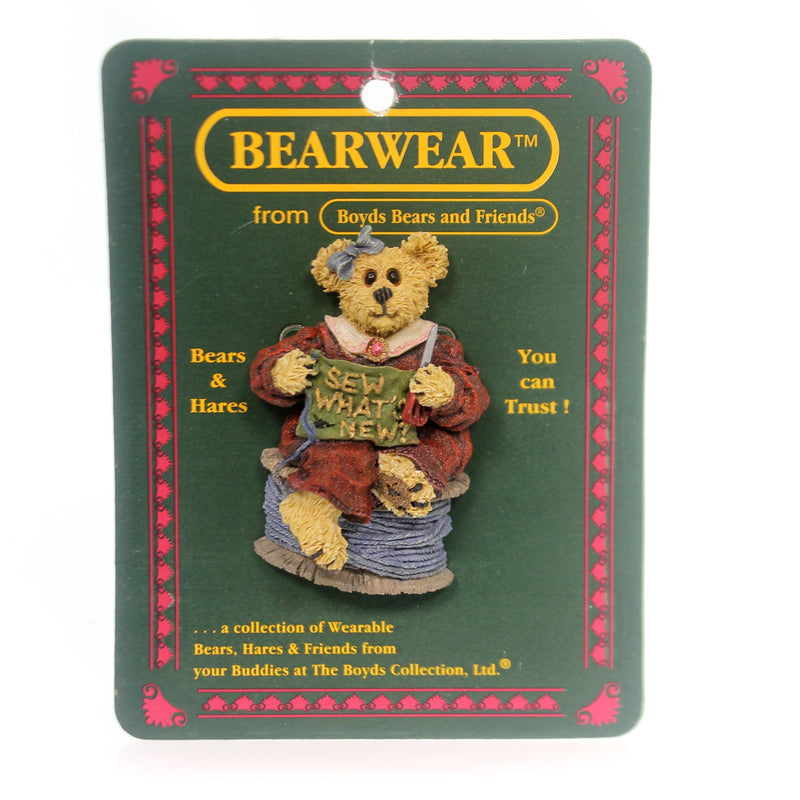 Boyds Bears Resin Vera Stitchkeeper Pin