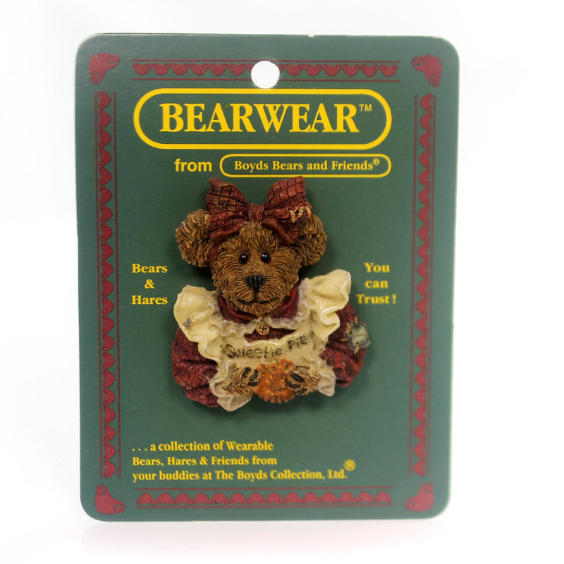 Boyds Bears Resin Aunt Becky Quality Control Pin