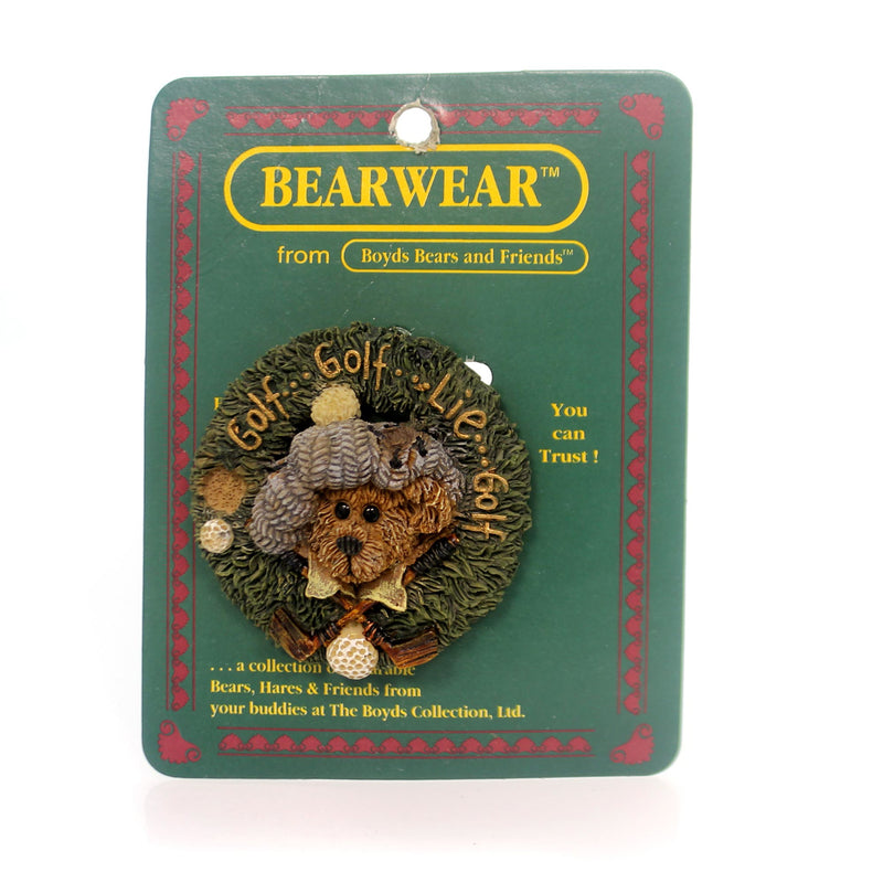Boyds Bears Resin Arnold Chip N' Putt Pin