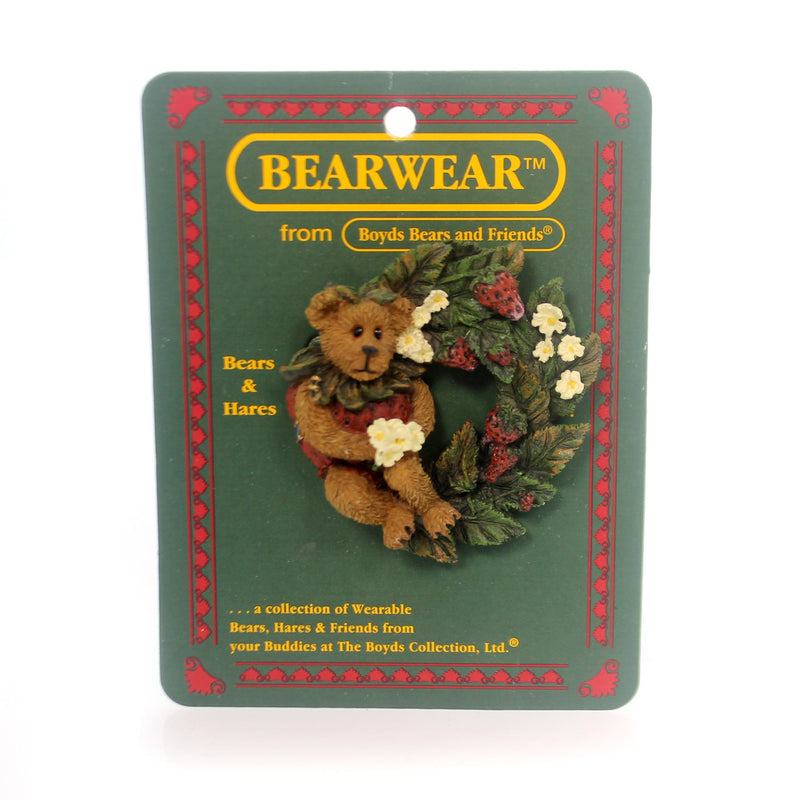 Boyds Bears Resin Jellie B. Bearypickins Pin