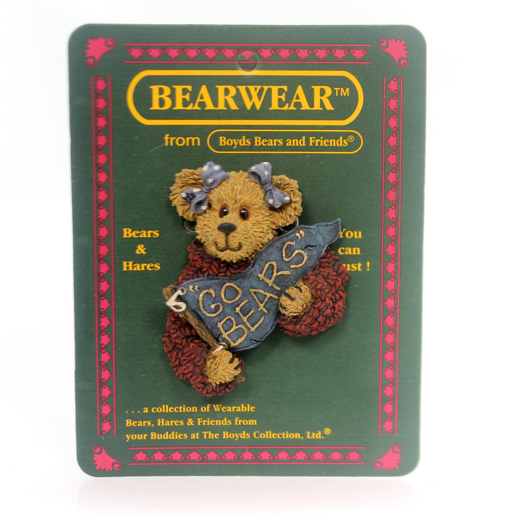 Boyds Bears Resin Kimberly Cheerenshout Pin
