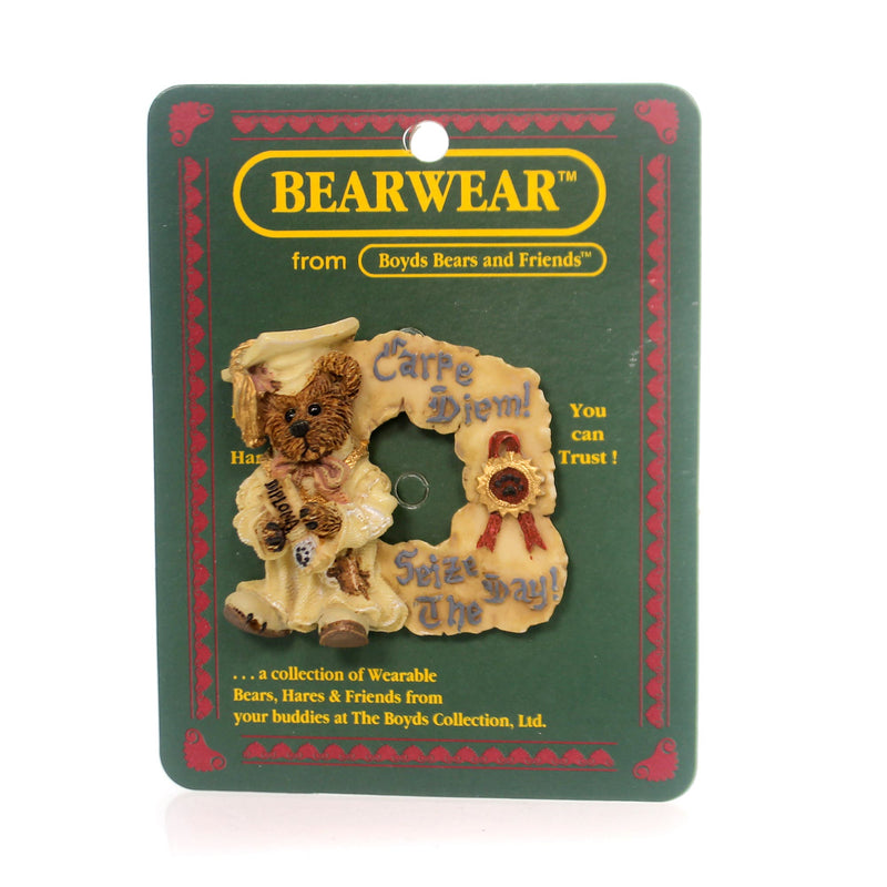 Boyds Bears Resin Bailey Carpe Diem Pin