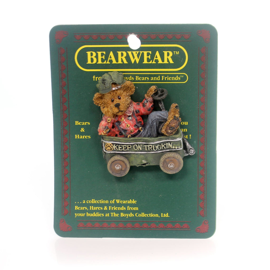 Boyds Bears Resin Huck Keep On Trucking Pin