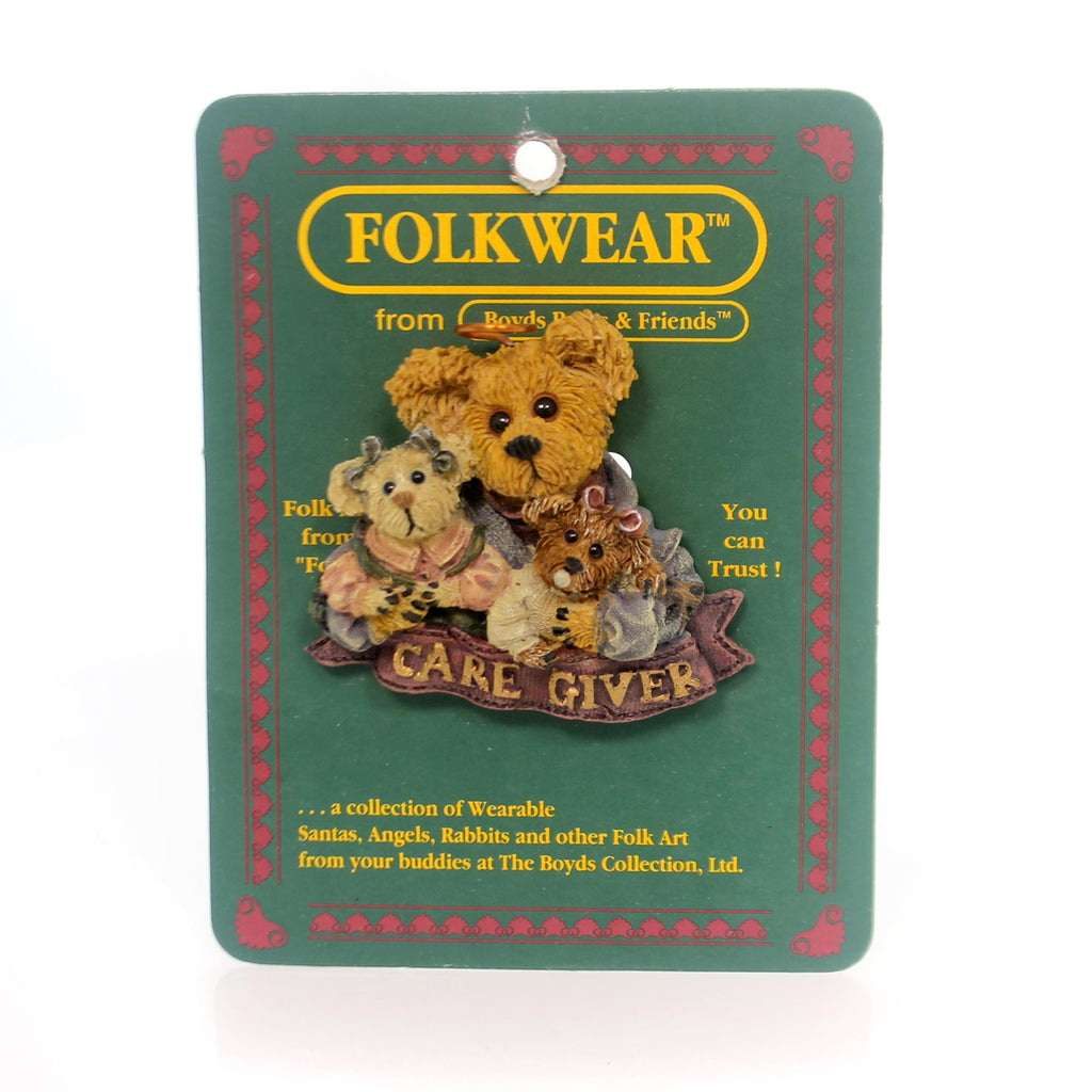 Boyds Bears Resin Ms. Mcfrazzle Care Giver Pin