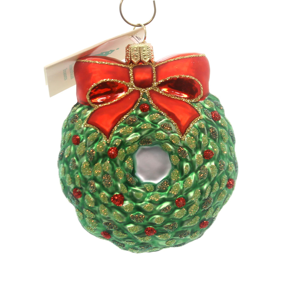 Tannenbaum Treasures Cincinnati Wreath Glass Ornament