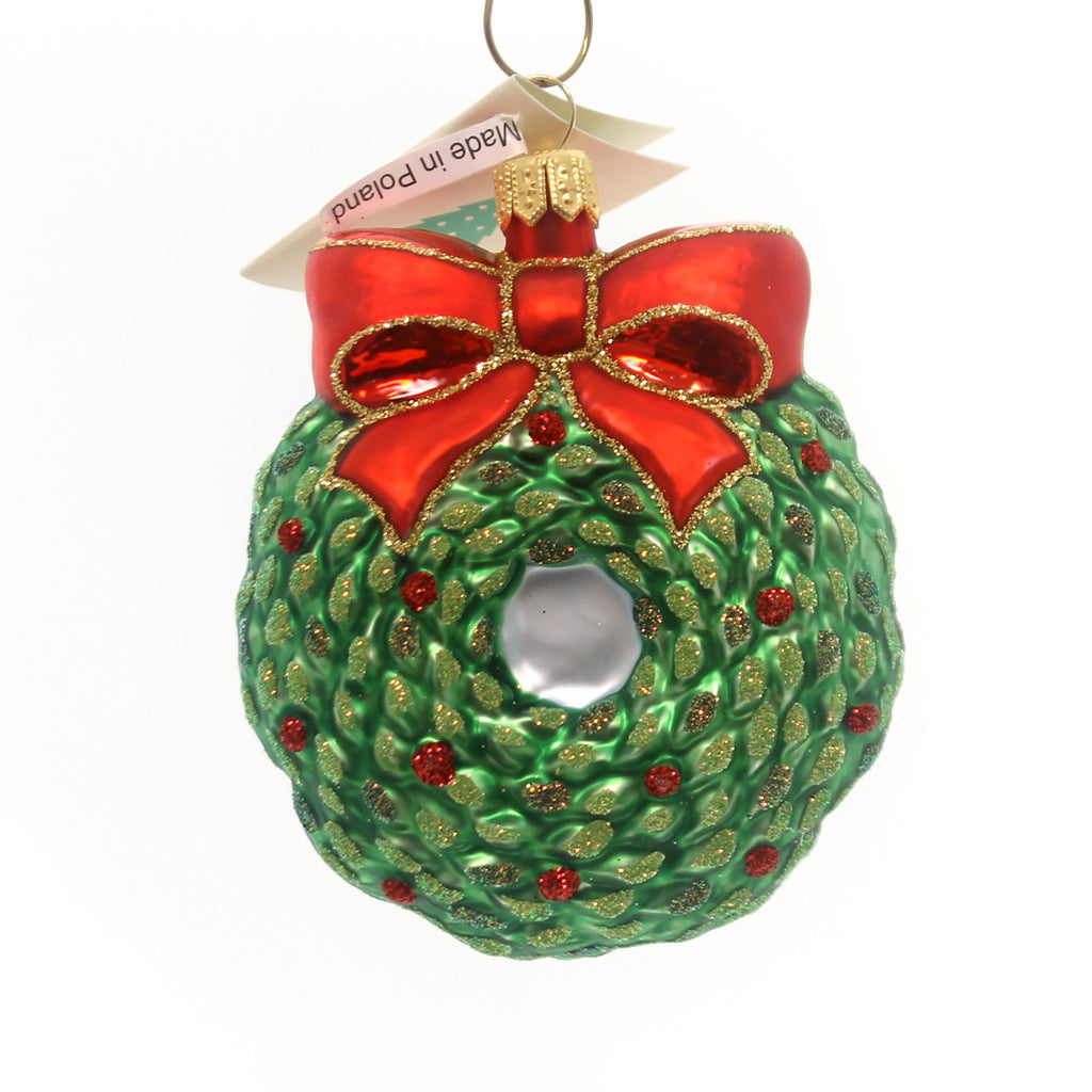 Tannenbaum Treasures Wreath Ornament Glass Ornament