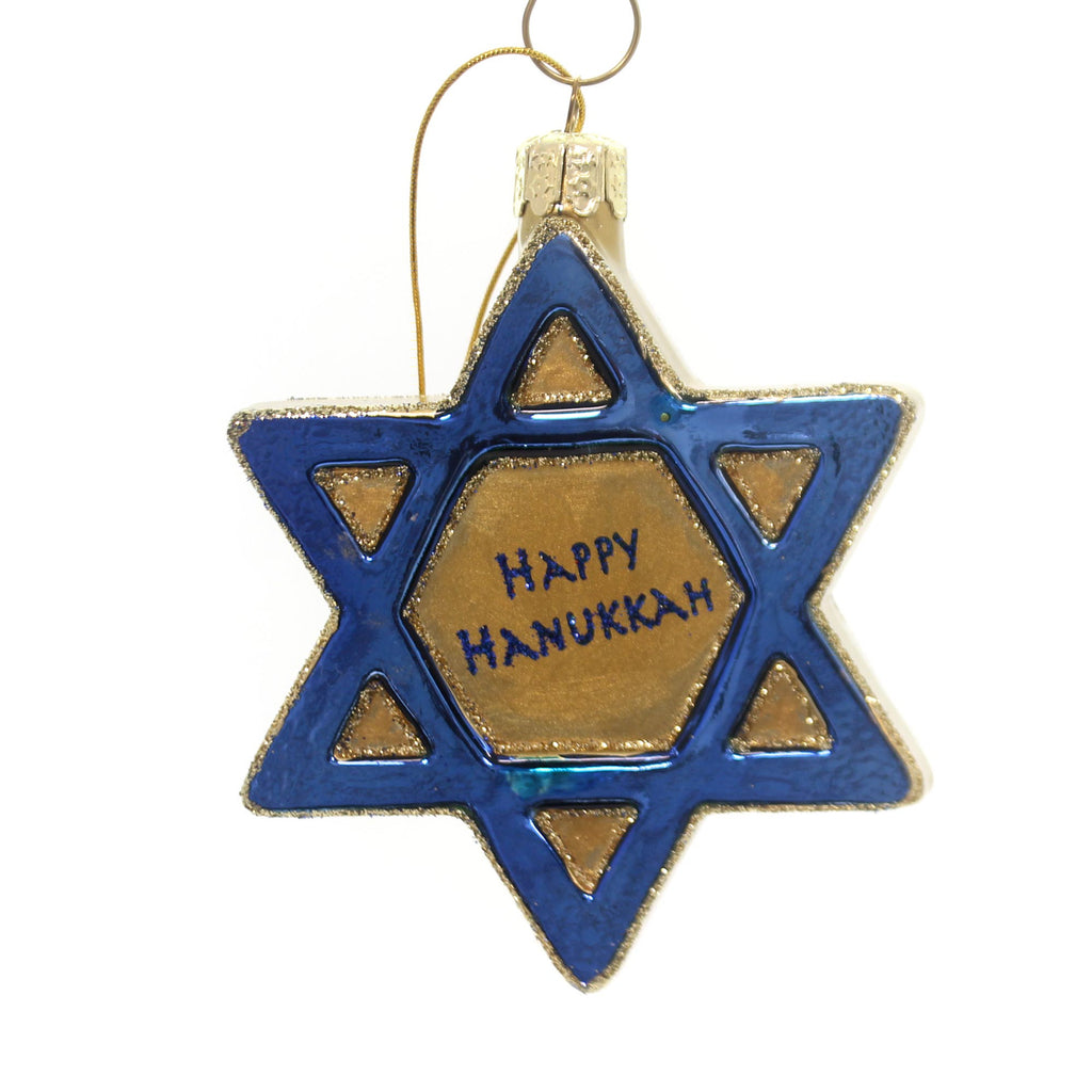 Noble Gems Jewish Star Ornament Glass Ornament