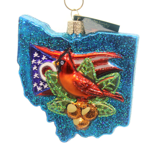 Old World Christmas State Of Ohio Glass Ornament