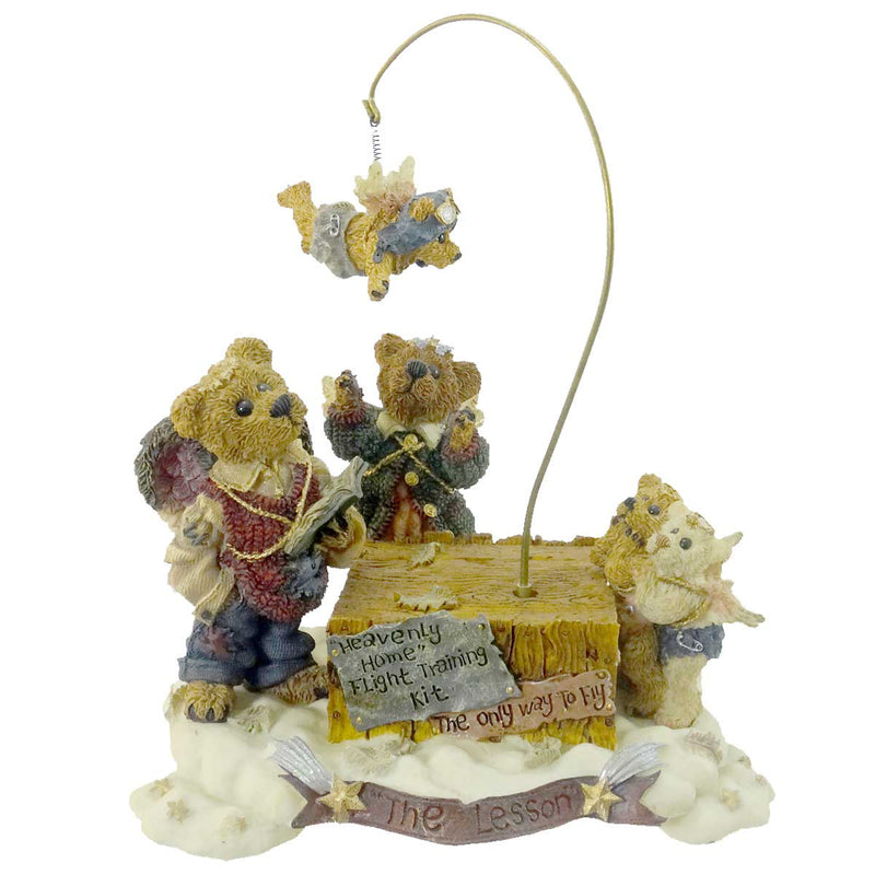 Boyds Bears Resin The Flying Lesson This End Up Figurine