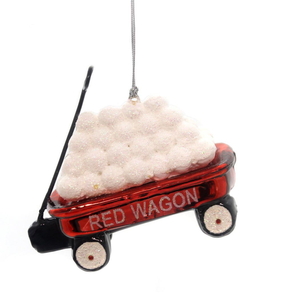 Noble Gems Little Red Wagon Ornament Glass Ornament