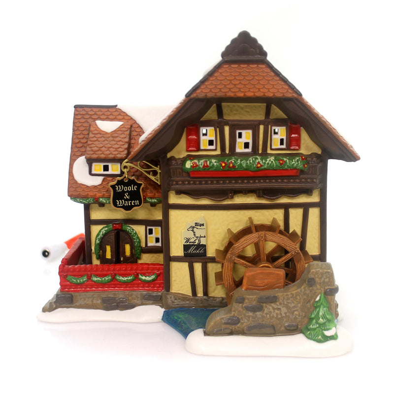 Department 56 House Alpen Woolen Mill Village Lighted Building