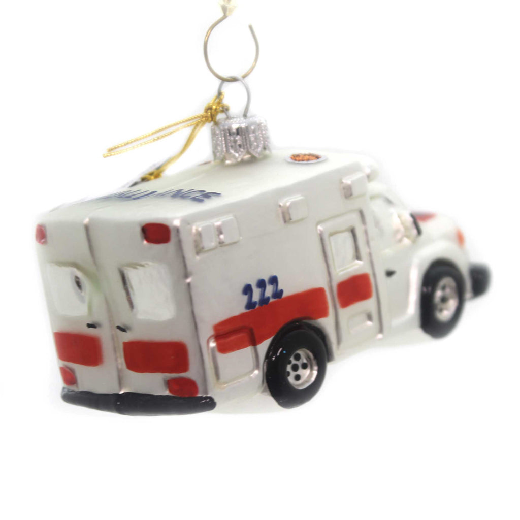 Oberfrankische Glas Ambulance Glass Ornament