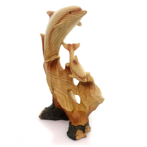 Animal Playful Dolphin Carving Figurine 30629