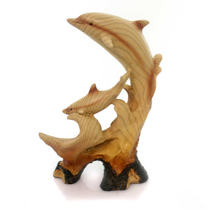 Animal Playful Dolphin Carving Figurine