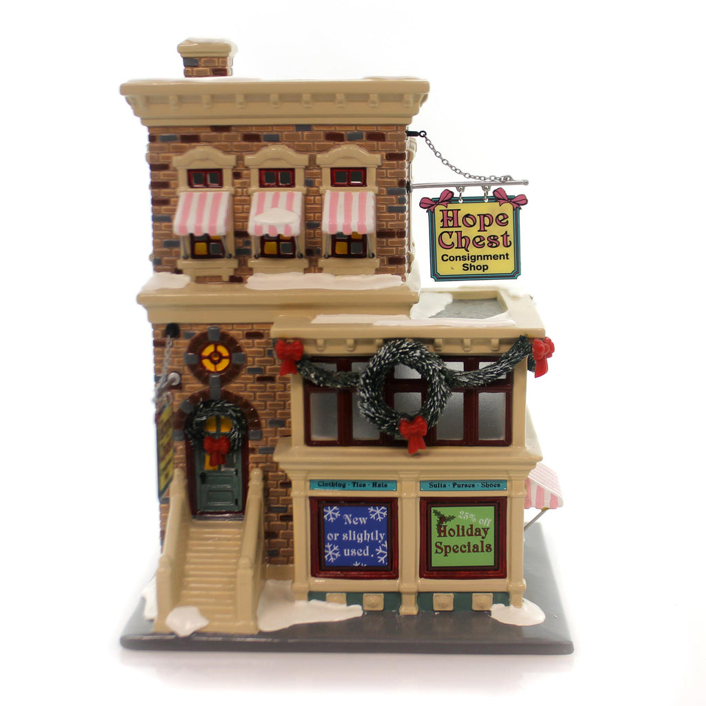 Dept 56 Buildings Hope Chest Consignment Shop Village Lighted Building