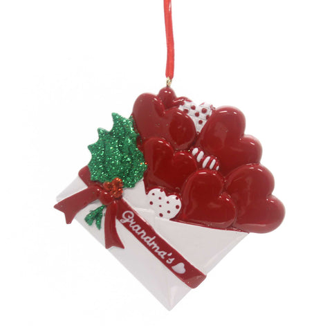 Holiday Ornaments Grandma's Letter Family Resin Ornament 30902