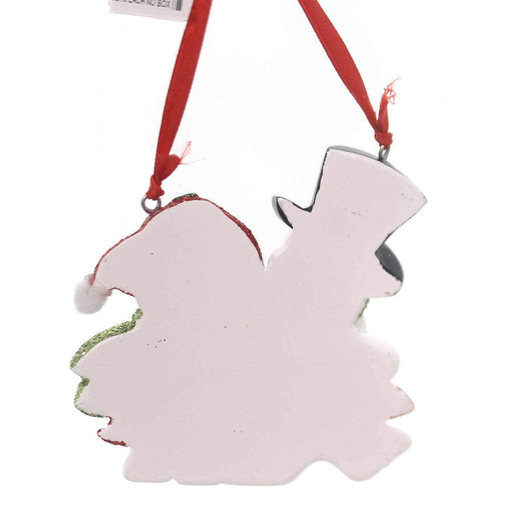 Personalized Ornament We're Expecting Snowmen Resin Ornament