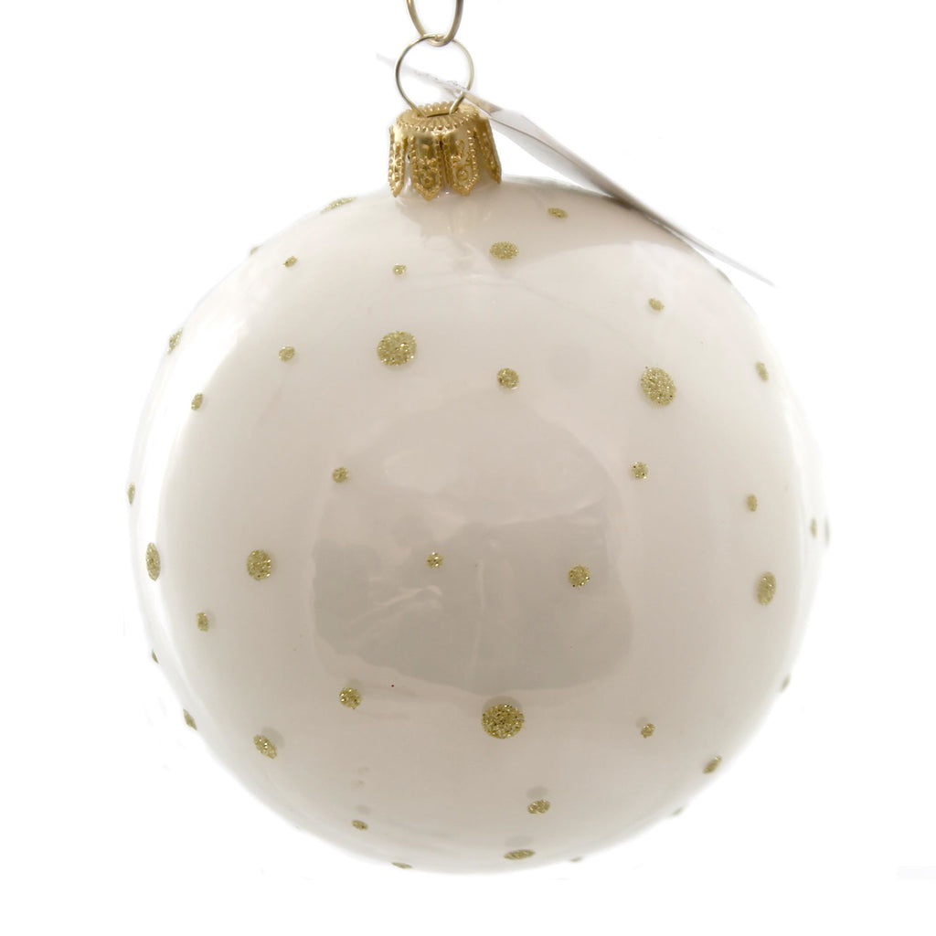Vaillancourt Jingle Balls Angel In White Glass Ornament