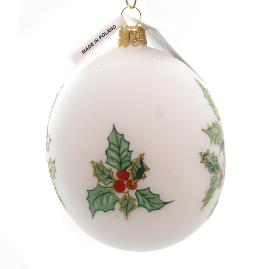Vaillancourt Jingle Balls Santa With Bear Glass Ornament