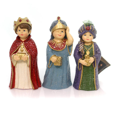 Christmas THREE WISEMEN Polyresin Nativity Stage Play Td5063 31277