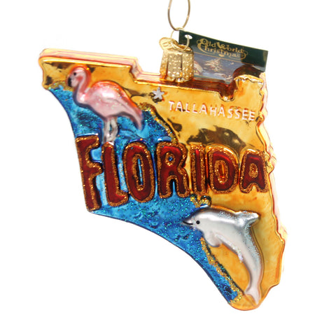 Old World Christmas State Of Florida Glass Ornament 31723