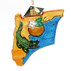 Old World Christmas State Of Florida Glass Ornament