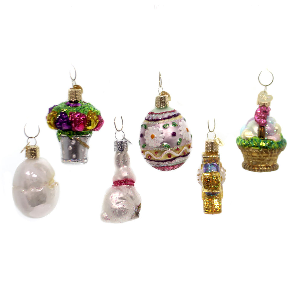 Old World Christmas Mini Easter Set Ornament Set