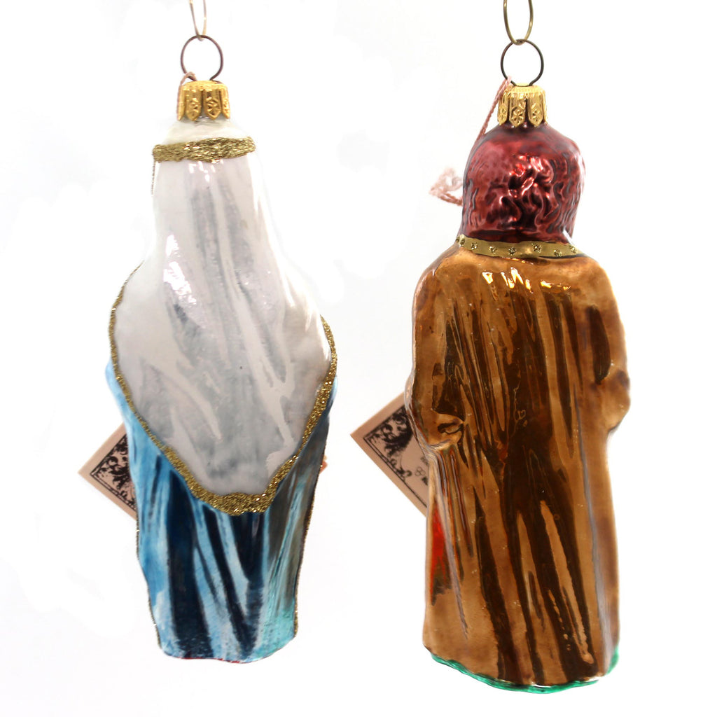 Polonaise Ornament St Joseph/Blessed Mother Glass Ornament