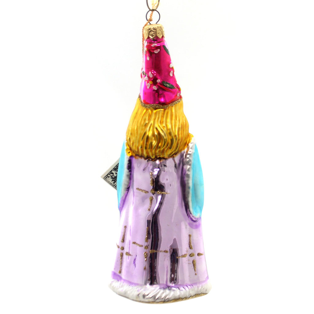 Polonaise Ornament Medieval Lady Glass Ornament
