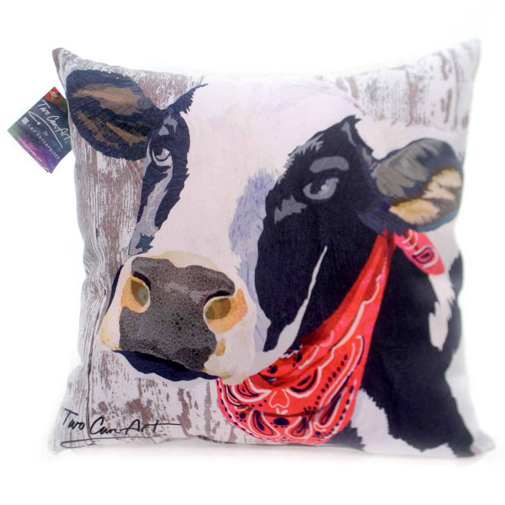 Home & Garden Cow Pillow Accent Pillow - Story Book Kids