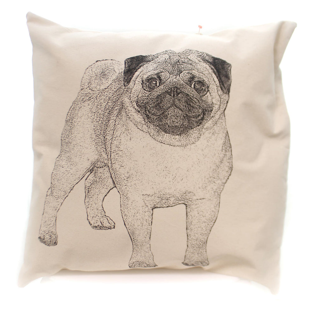 Home Decor Pug Pillow Accent Pillow - Story Book Kids