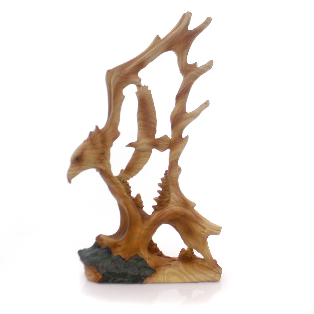 Animal Eagle Woodlike Carving Figurine