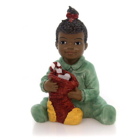 Black Art Christmas Kids Girl Christmas Figurine 32864