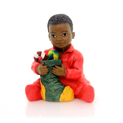 Black Art Christmas Kids Boy Christmas Figurine 32865