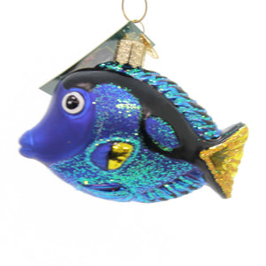 Old World Christmas Pacific Blue Tang Glass Ornament