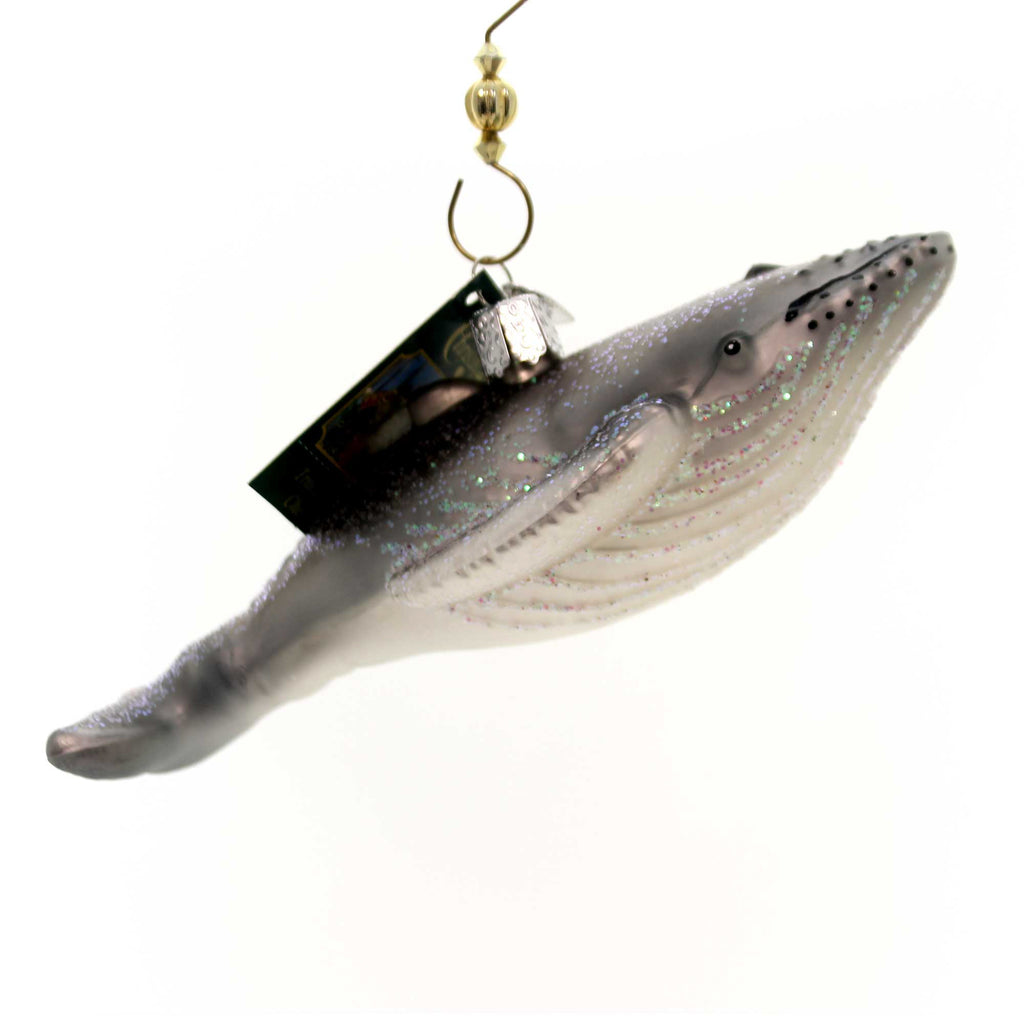 Old World Christmas Humpback Whale Glass Ornament
