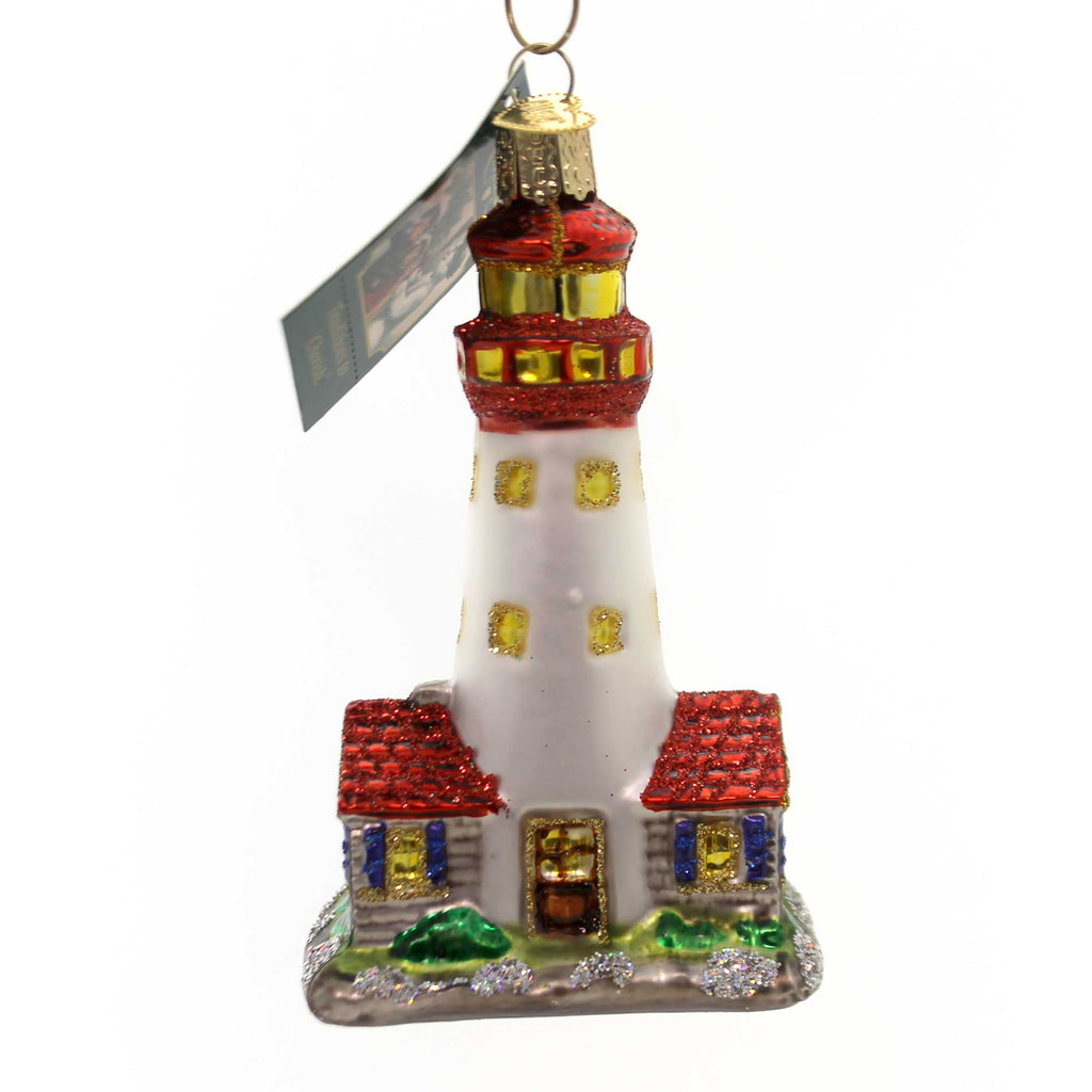 Old World Christmas Lighthouse. Glass Ornament