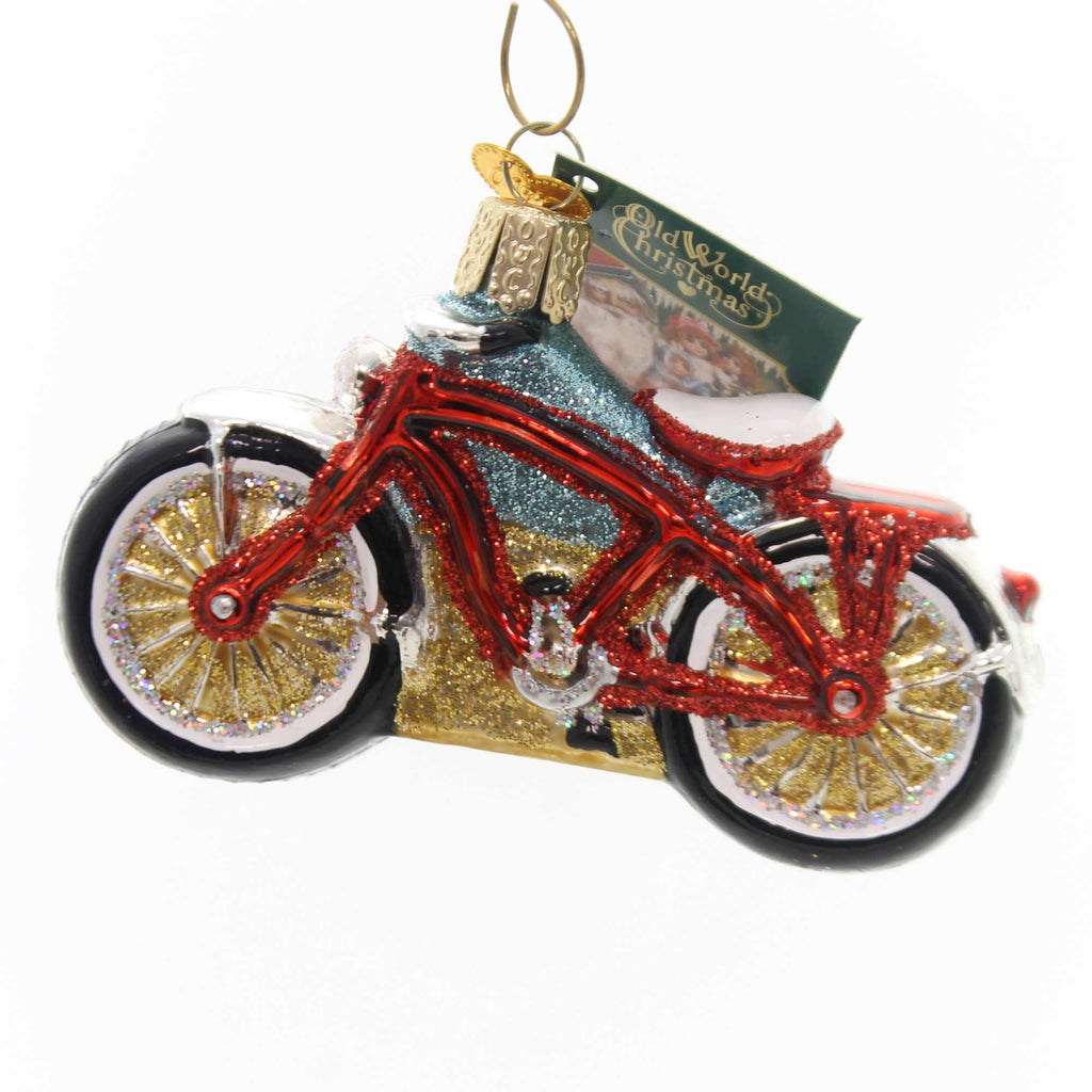 Old World Christmas Cruiser Bike Glass Ornament