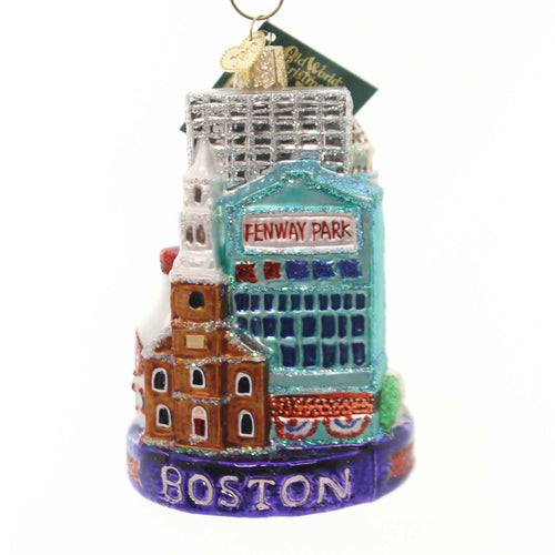 Old World Christmas BOSTON CITY Glass Ornament Massachusetts Fenway 20094.