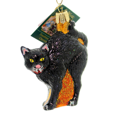 Old World Christmas Scaredy Cat Glass Ornament 33466