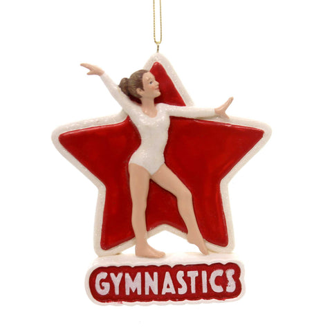 Holiday Ornaments Gymnastics Girl Resin Ornament 33586